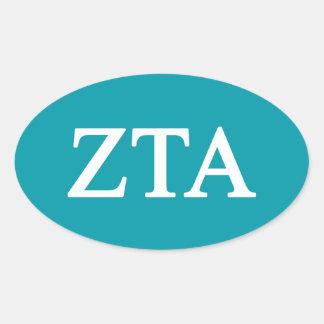 Zeta Tau Alpha Lil Big Logo Oval Sticker