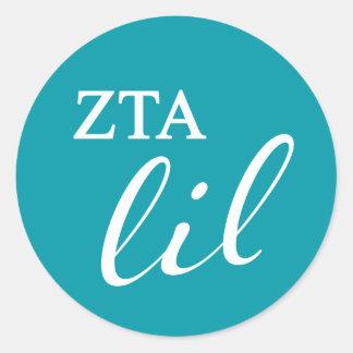 Zeta Tau Alpha Lil Script Classic Round Sticker