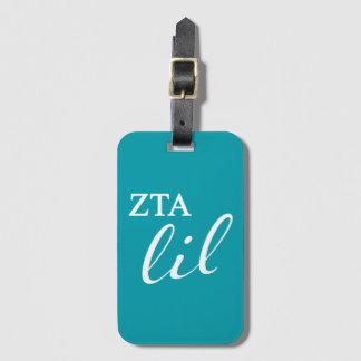 Zeta Tau Alpha Lil Script Luggage Tag