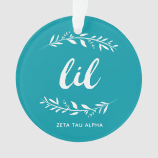 Zeta Tau Alpha Lil Wreath Ornament