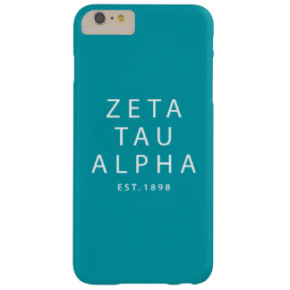 Zeta Tau Alpha Modern Type Barely There iPhone 6 Plus Case