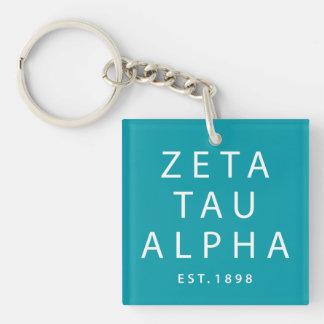 Zeta Tau Alpha Modern Type Keychain