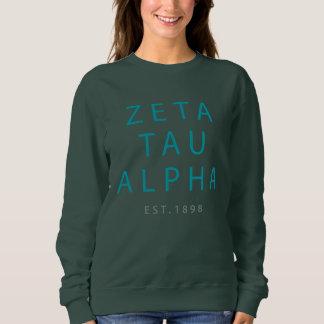 Zeta Tau Alpha Modern Type Sweatshirt