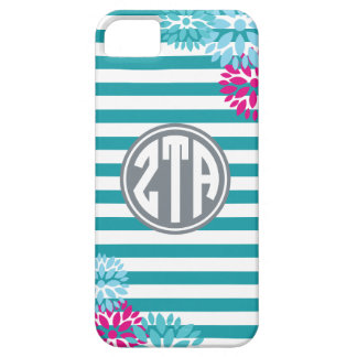 Zeta Tau Alpha | Monogram Stripe Pattern iPhone 5 Covers