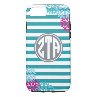 Zeta Tau Alpha   Monogram Stripe Pattern iPhone 7 Case