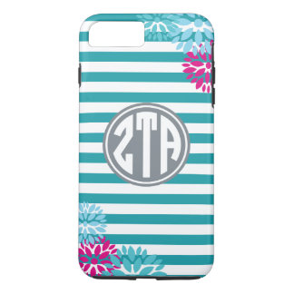 Zeta Tau Alpha | Monogram Stripe Pattern iPhone 7 Plus Case