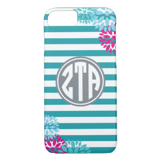Zeta Tau Alpha | Monogram Stripe Pattern iPhone 8/7 Case