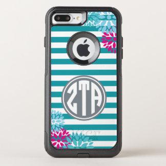 Zeta Tau Alpha | Monogram Stripe Pattern OtterBox Commuter iPhone 8 Plus/7 Plus Case