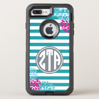 Zeta Tau Alpha | Monogram Stripe Pattern OtterBox Defender iPhone 7 Plus Case
