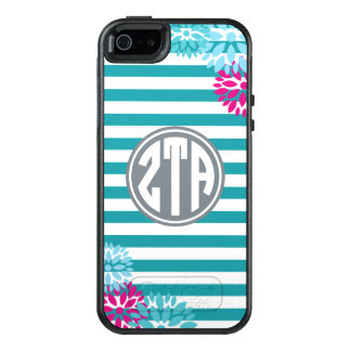 Zeta Tau Alpha | Monogram Stripe Pattern OtterBox iPhone 5/5s/SE Case