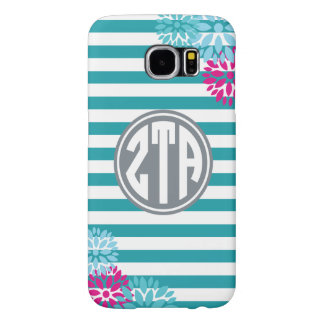Zeta Tau Alpha | Monogram Stripe Pattern Samsung Galaxy S6 Cases