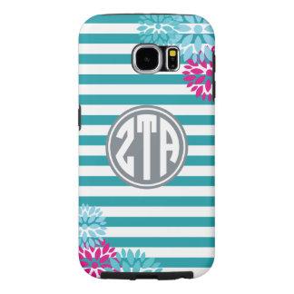 Zeta Tau Alpha   Monogram Stripe Pattern Samsung Galaxy S6 Cases