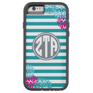 Zeta Tau Alpha   Monogram Stripe Pattern Tough Xtreme iPhone 6 Case