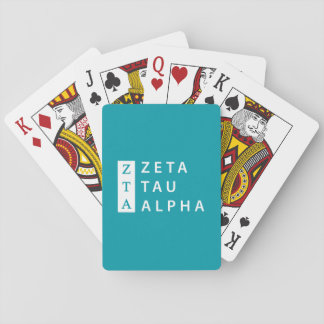 Zeta Tau Alpha Stacked Playing Cards