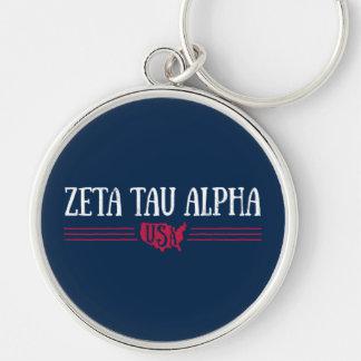Zeta Tau Alpha USA Keychain