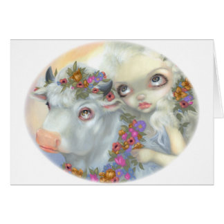 """Zeus and Europa"" Greeting Card"