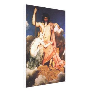 Zeus and Thetis Canvas Print