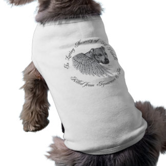 Zeus angel dog t shirt
