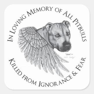 Zeus angel square sticker