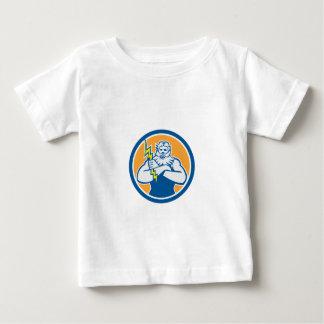 Zeus Greek God Arms Cross Thunderbolt Circle Retro Baby T-Shirt