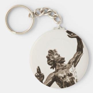 Zeus, greek god basic round button keychain