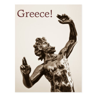 Zeus, greek god postcard