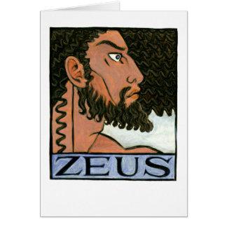 Zeus Greeting Card