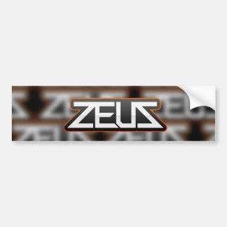 zeus logo sticker design bumper sticker