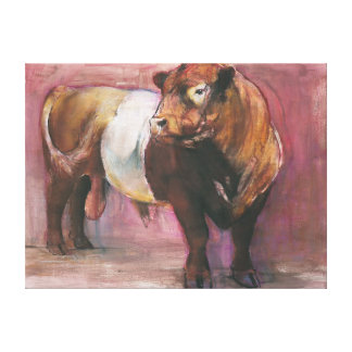 Zeus Red Belted Galloway Bull 2006 Canvas Print