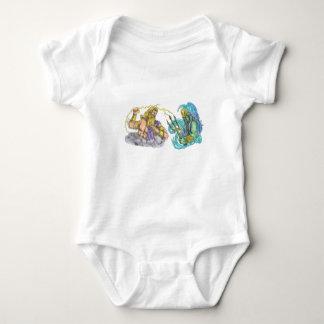 Zeus Thunderbolt Vs Poseidon Trident Tattoo Baby Bodysuit