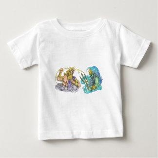 Zeus Thunderbolt Vs Poseidon Trident Tattoo Baby T-Shirt