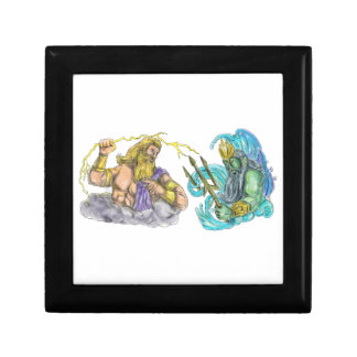 Zeus Thunderbolt Vs Poseidon Trident Tattoo Gift Box