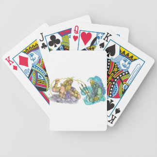 Zeus Thunderbolt Vs Poseidon Trident Tattoo Poker Deck