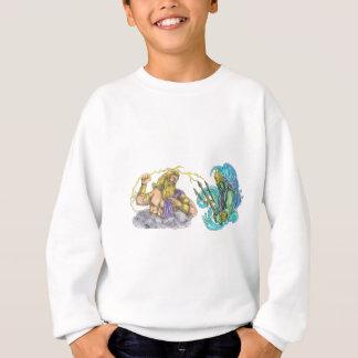 Zeus Thunderbolt Vs Poseidon Trident Tattoo Sweatshirt