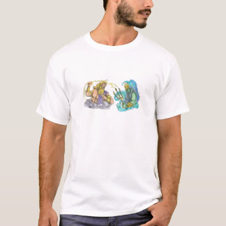 Zeus Thunderbolt Vs Poseidon Trident Tattoo T-Shirt