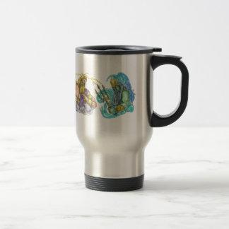Zeus Thunderbolt Vs Poseidon Trident Tattoo Travel Mug