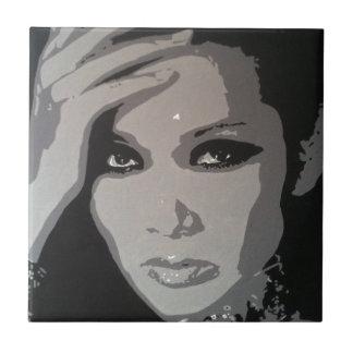 Zhang Mi (Mimi) original pop art portrait Tile