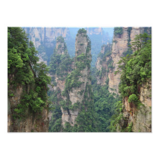 Zhangjiajie National Forest Park Avatar Mountains Photo Print