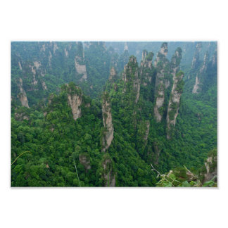 Zhangjiajie National Forest Park Avatar Mountains Poster
