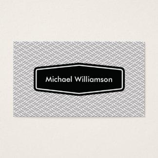 Zhigaki pattern business card - gray