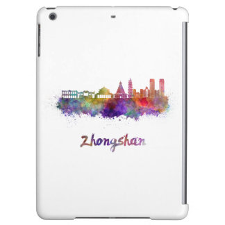 Zhongshan skyline in watercolor cover for iPad air