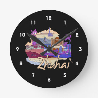 zhuhai city vacation graphic peach.png clock