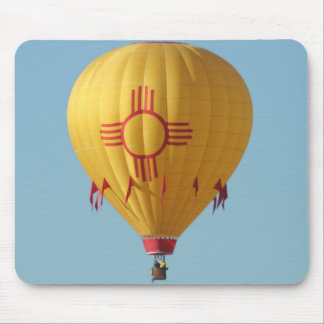 Zia Sun Symbol Hot Air Balloon Mouse Pad