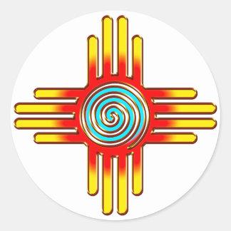 Zia Sun - Zia Pueblo - New Mexico Classic Round Sticker