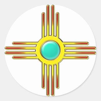 Zia sun - Zia Pueblo - strength symbol Classic Round Sticker