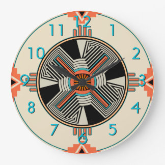 Zia Swirling Winds Large Clock