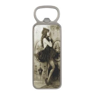Ziegfeld Chorus Girl Magnetic Bottle Opener