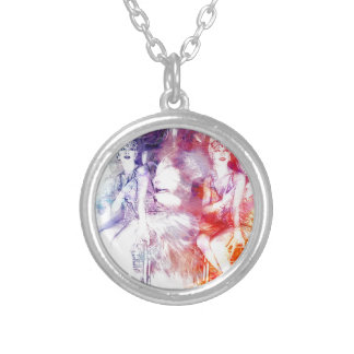 ZIEGFELD GLAMOUR SILVER PLATED NECKLACE