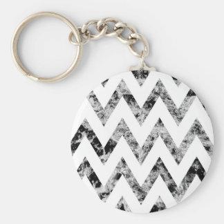 Zig saw Print - black prints blank Black White Basic Round Button Keychain
