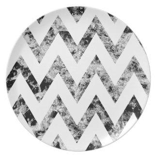 Zig saw Print - black prints blank Black White Plates